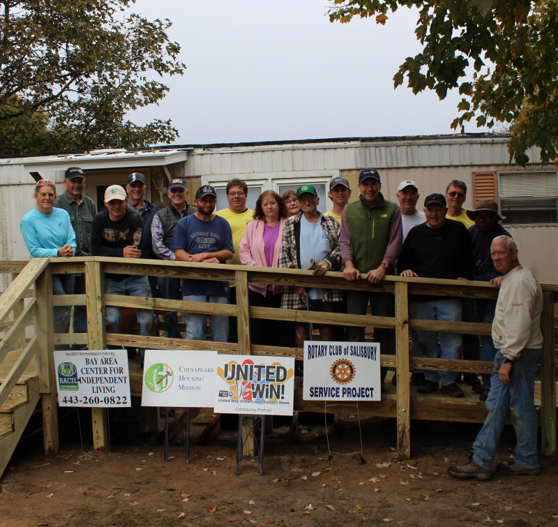 Here is a photo of a handicap ramp that we built this Saturday October 27 for Mr. Terry Williams, a retired Vietnam Vet.